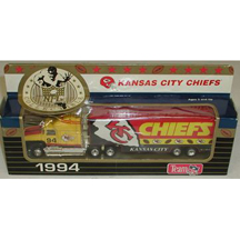 1994 White Rose Matchbox NFL Tractor-Trailer Kansas City Chiefs
