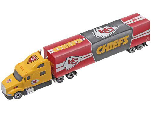 1995 White Rose Matchbox NFL Tractor-Trailer Kansas City Chiefs