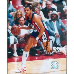 "8"" X 10"" Autographed Photo - New Jersey Nets, Otis Birdsong"