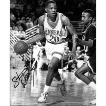 "8"" X 10"" Autographed Photo - Kansas Jayhawks, Stephen Woodbury"