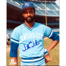 8 x 10 Autographed Photo - KC Royals -Willie Wilson